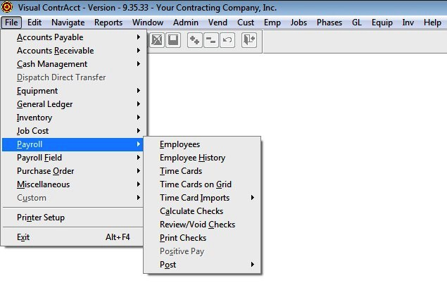 Job Cost Accounting Software System